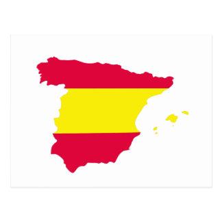 Spain Map Flag Postcards