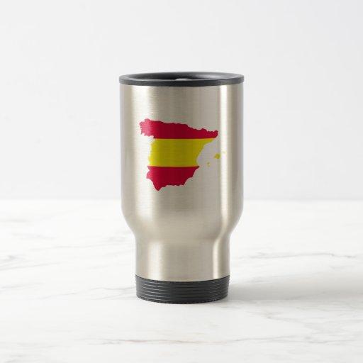Spain Map Flag Travel Mug