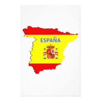 Spain map flyer