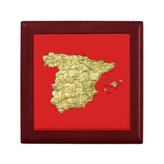 Spain Map Gift Box