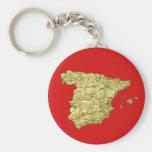 Spain Map Keychain