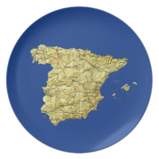 Spain Map Plate