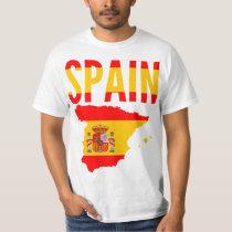 Spain Map Text T-Shirt