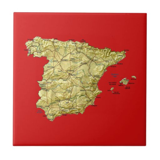 Spain Map Tile