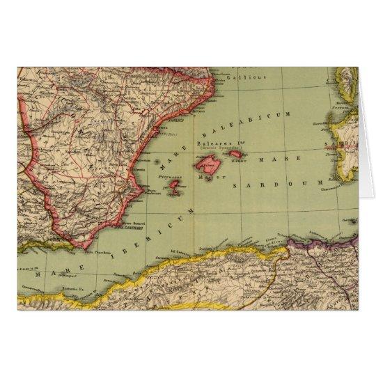 Spain, Mauritania and Africa Card