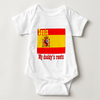 Spain-my daddy's roots baby baby bodysuit