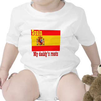 Spain-my daddy's roots baby t shirts