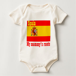 Spain my mommy's roots baby bodysuit