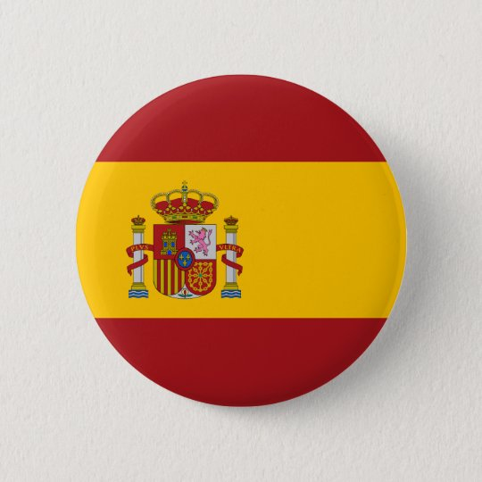 Spain National Flag Button