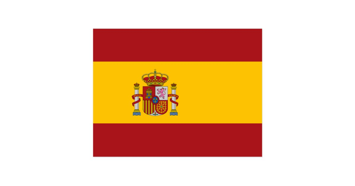 Spain National Flag Postcard Zazzle Com
