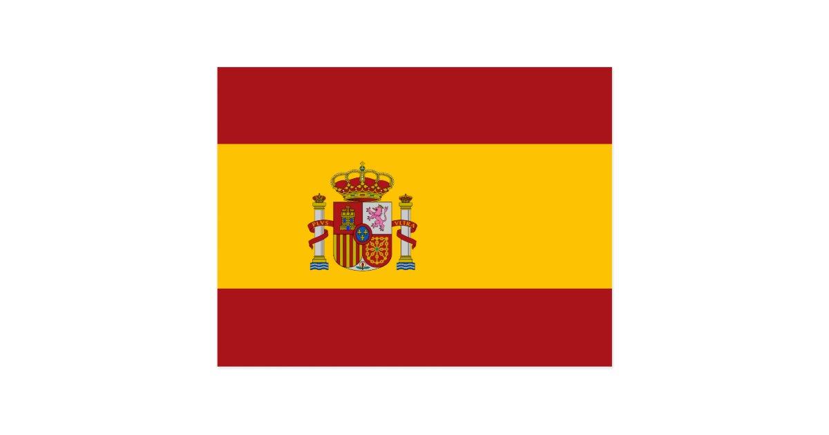 Spain National Flag Postcard Zazzle Com