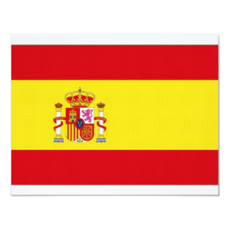 "Spain National Flag simplified 4.25"" X 5.5"" Invitation Card"