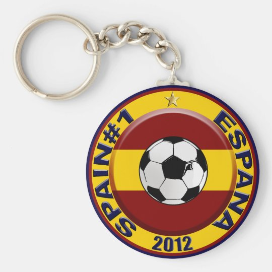 Spain No.1 #1 Champions of Europe Europa 2012 Keychain