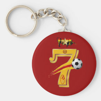 Spain Number 7 Soccer World Champions Keyring Keychain