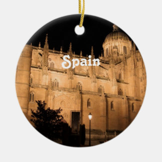 Spain Double-Sided Ceramic Round Christmas Ornament