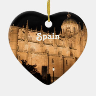 Spain Double-Sided Heart Ceramic Christmas Ornament