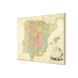 Spain, Portugal 3 Stretched Canvas Prints