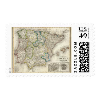 Spain, Portugal 5 Stamp