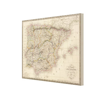 Spain, Portugal Canvas Print