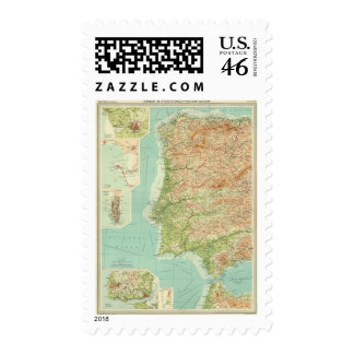 Spain & Portugal western section Postage Stamp