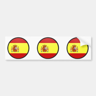 Spain quality Flag Circle Bumper Sticker