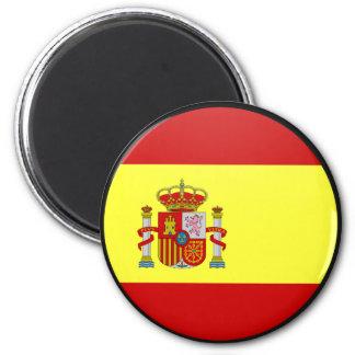 Spain quality Flag Circle Magnet