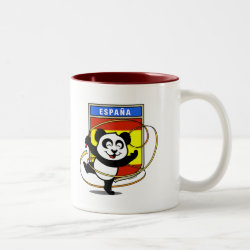 Two-Tone Mug with Spain Rhythmic Gymnastics Panda design