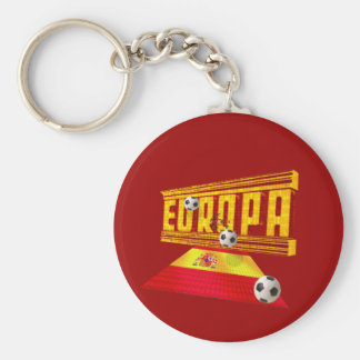 Spain Road to Europe soccer futbol gifts ideas Keychain