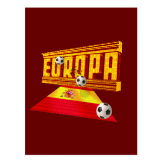 Spain Road to Europe soccer futbol gifts ideas Postcard
