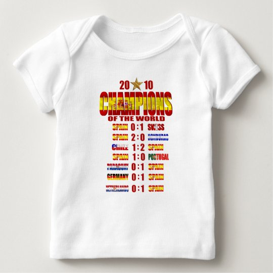 Spain Road to Victory 2010 World Champions art Baby T-Shirt