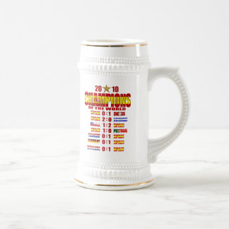 Spain Road to Victory 2010 World Champions art Beer Stein