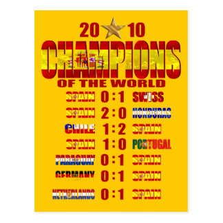 Spain Road to Victory 2010 World Champions art Postcard