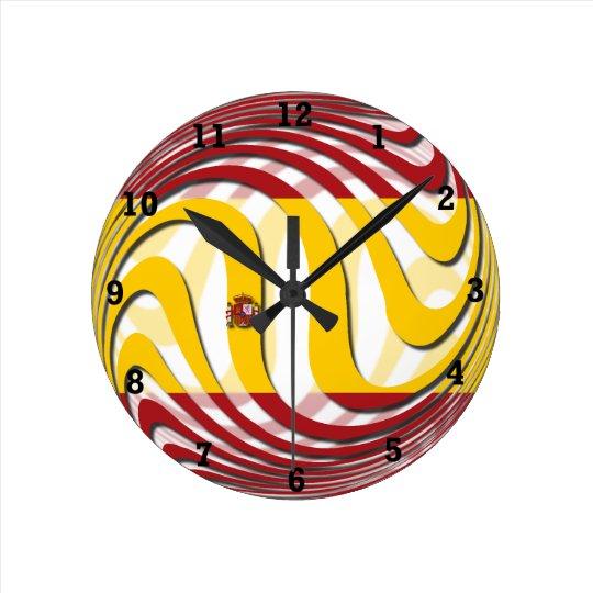 Spain Round Clock