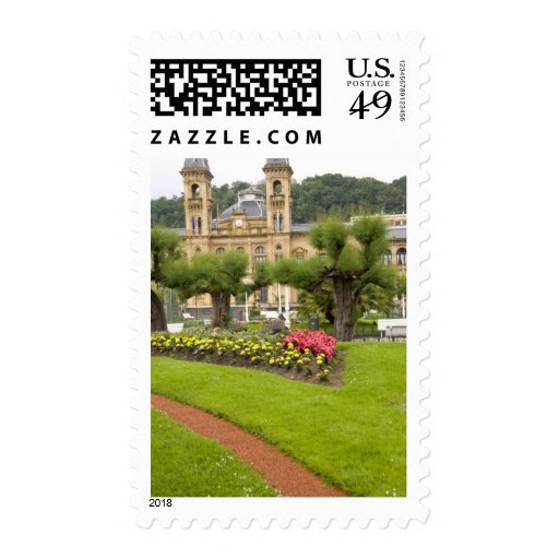 Spain, San Sebastian. Popular seaside resort, Postage Stamp