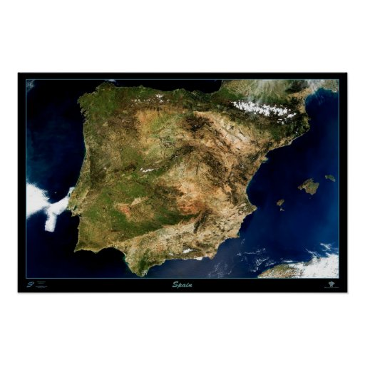 Spain satellite poster