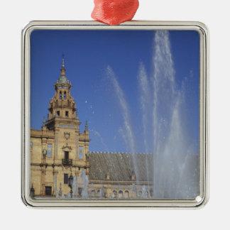 Spain, Sevilla, Andalucia Fountain and ornate Metal Ornament