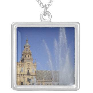 Spain, Sevilla, Andalucia Fountain and ornate Custom Necklace