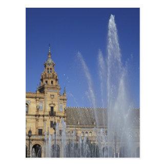 Spain, Sevilla, Andalucia Fountain and ornate Postcard