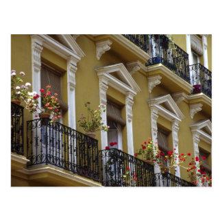 Spain, Sevilla, Andalucia Geraniums hang over Postcard