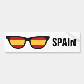 Spain Shades custom text & color bumpersticker Bumper Sticker