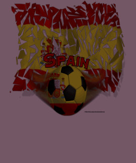 Spain Shatters Soccer Men's Poly-Cotton T-Shirt