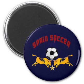 Spain Soccer 2010 La Furia Bull Toro Gift 2 Inch Round Magnet