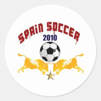 Spain Soccer 2010 La Furia Bull Toro Gift Classic Round Sticker