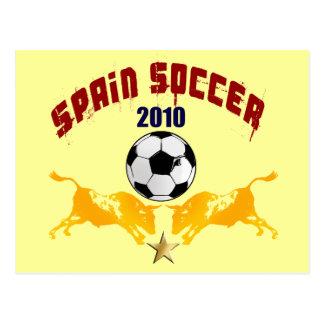 Spain Soccer 2010 La Furia Bull Toro Gift Postcard