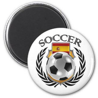 Spain Soccer 2016 Fan Gear 2 Inch Round Magnet