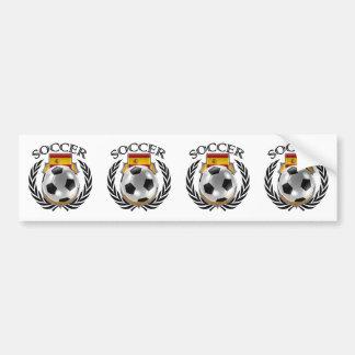 Spain Soccer 2016 Fan Gear Bumper Sticker