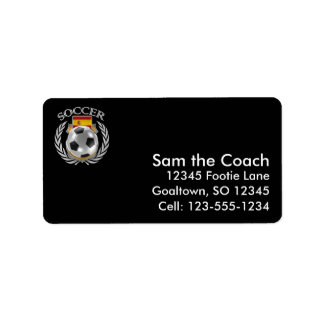 Spain Soccer 2016 Fan Gear Label