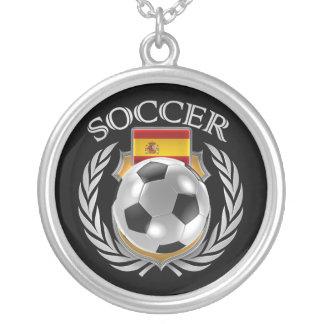 Spain Soccer 2016 Fan Gear Silver Plated Necklace