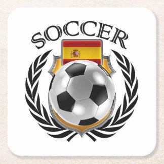 Spain Soccer 2016 Fan Gear Square Paper Coaster