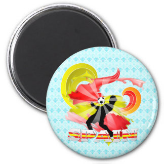 Spain Soccer 2 Inch Round Magnet